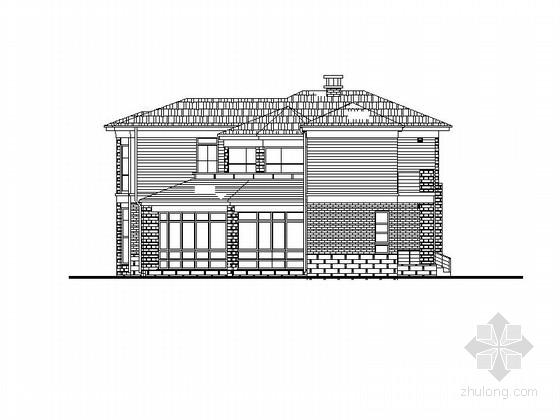两层独立式别墅建筑设计方案图