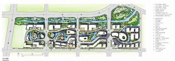 现代风格科技园规划设计方案总平面图