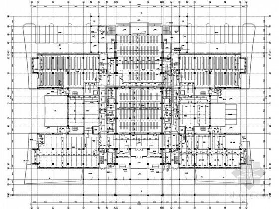 [山东]高层图书馆给排水施工图纸