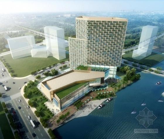 [上海]五星级现代式商务会议型酒店建筑设计方案文本(含两套方案)