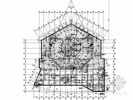 57层型钢混凝土框架核心筒结构会展宾馆结构施工图(254米、229张图)