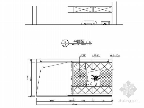 经典美式风情三层别墅样板间CAD装修施工图(含高清效果图)立面图