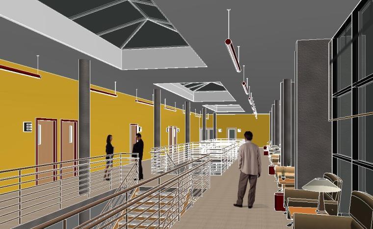 BIM模型-revit模型-三层Revit商务办公楼模型