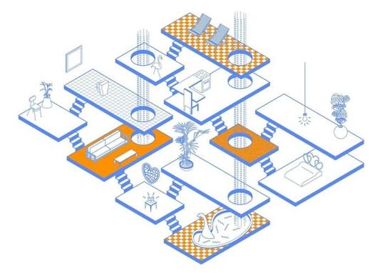 这个建筑师,一直孜孜不倦地用CAD做这些酷炫的建筑分析图