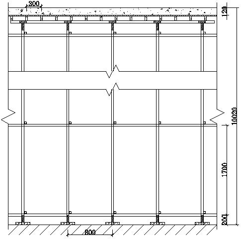 08模板设计剖面图(楼板方向)