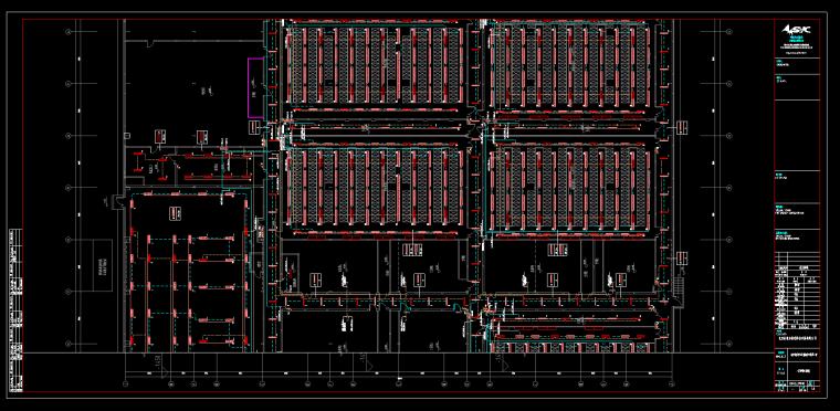 北京大型厂房电气装修图纸-照明布线图
