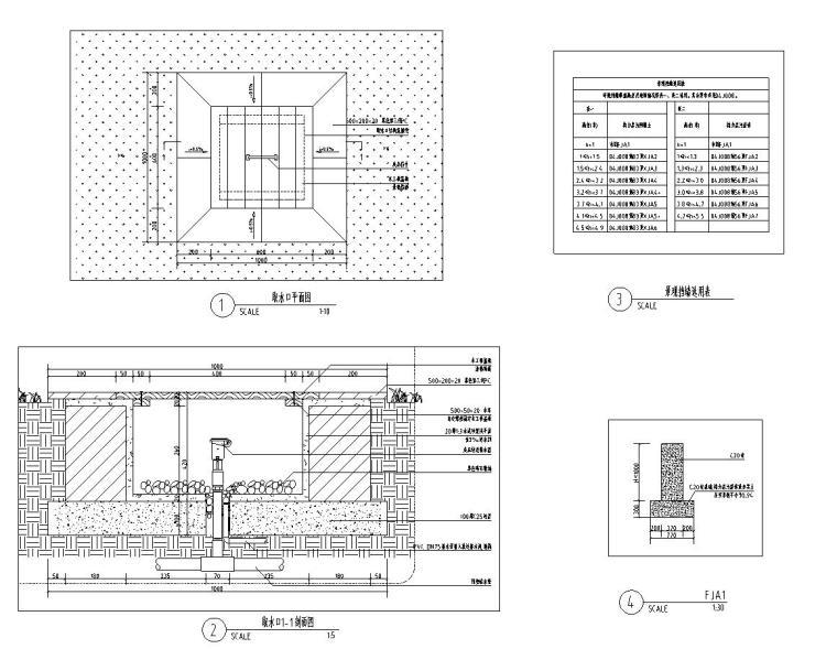 [西九]某居住区景观设计全套施工图(包含+60个CAD)-取水口设计