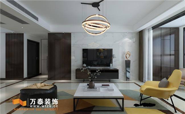 济南领秀城中央公园178m²装修案例
