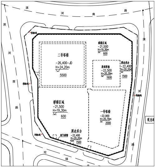 工程实例—天津某基坑工程支护方案设计