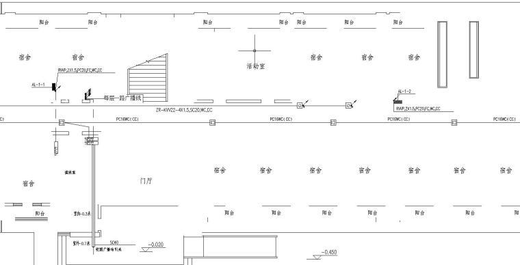某高校六层宿舍楼电气图_3