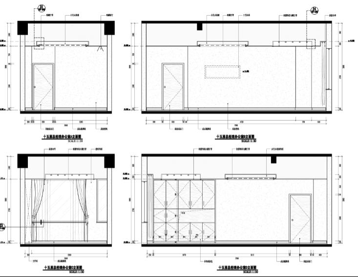 福州教育新濠酒店混搭风格室内设施工图及效果图(92张)