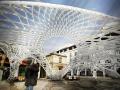 机器人建造的塑料临时建筑