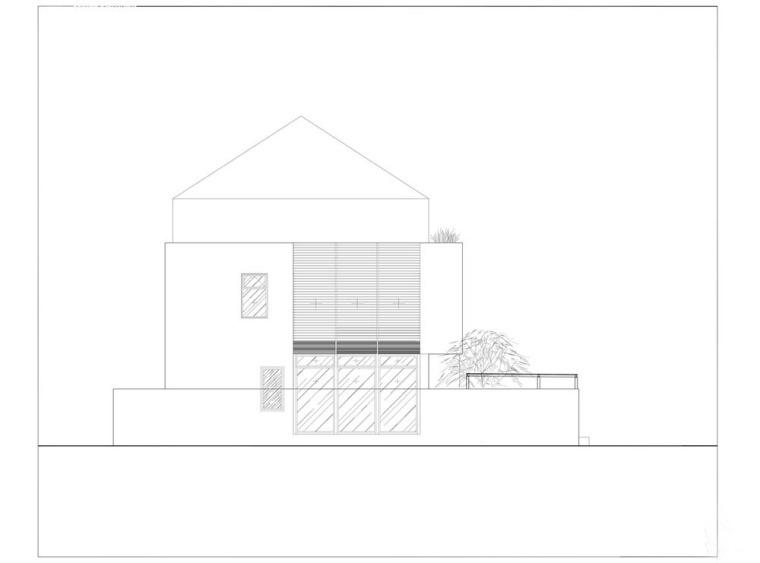 越南胡志明白色方块住宅-27