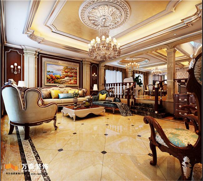 万泰设计分享中海铂宫装修|古典欧式风格案例