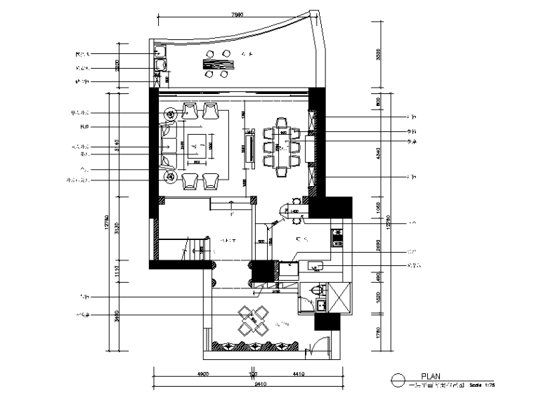 [广东]一套欧式别墅设计CAD施工图(含效果图)