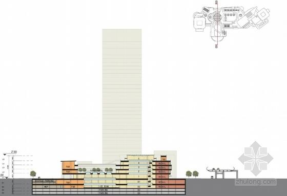 商业区规划剖面图