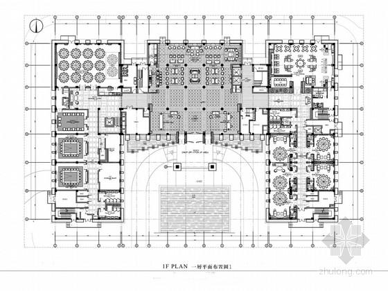 名师某现代中式五星级酒店设计方案图