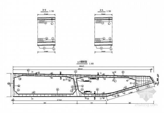 674m全漂浮体系斜拉桥主桥边跨合拢段钢筋构造节点详图设计