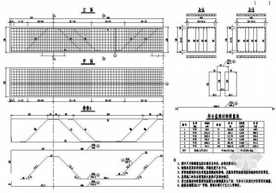 互通主线连续箱梁高架桥成套cad设计图纸