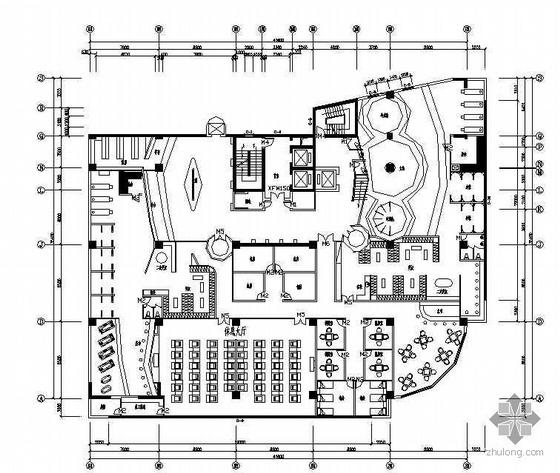 某酒店桑拿浴场空间设计施工图