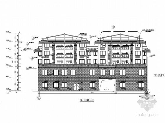 五层底框抗震墙结构中心卫生院业务用房结构施工图(悬挑梁基础)