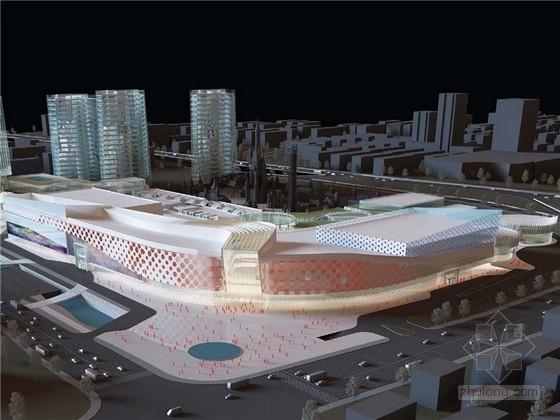 [湖南]现代风格大型超市商业综合体建筑设计方案文本