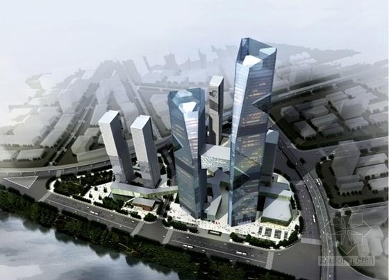 [武汉]开敞式小区景观规划设计方案-鸟瞰图
