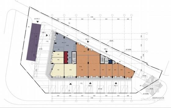 [安徽]七层开放抒情性办公综合体建筑设计方案文本-七层开放抒情性办公综合体建筑平面图