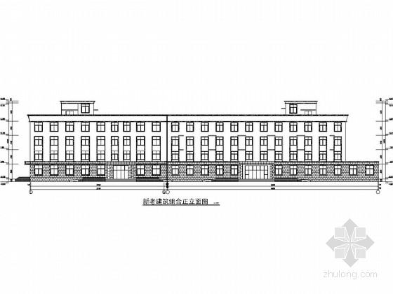 [安徽]四层砖混结构老年公寓(敬老院)建筑及结构施工图