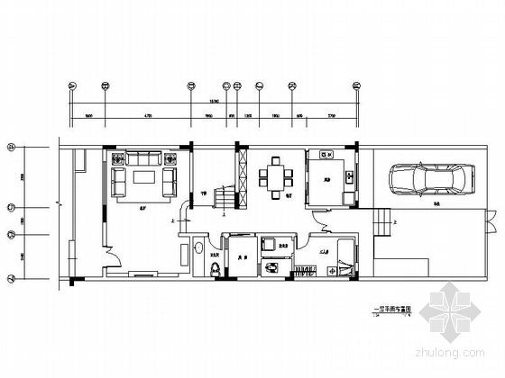 [江苏]现代风情三层别墅室内装修施工图(含电气图)