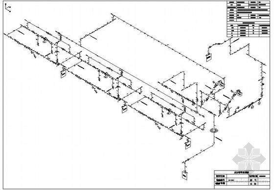 上海某化工企业年产20万吨abs装置压力管道图,全套的cad图纸.