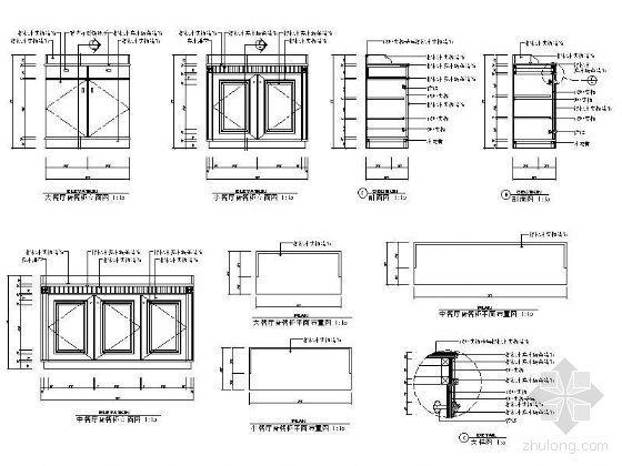备餐柜详图