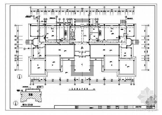 某环境监测中心六层综合楼给排水设计图