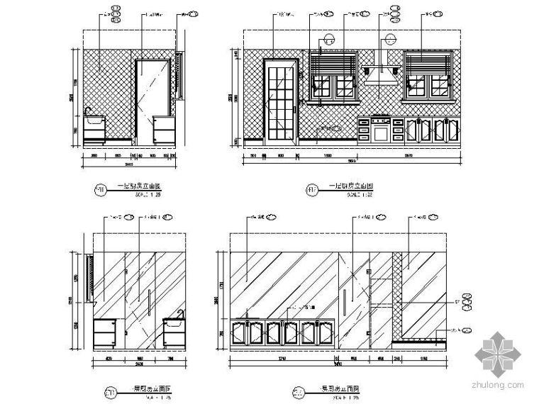 别墅厨房立面图
