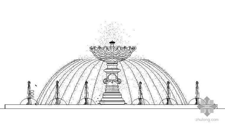 圆形喷泉水池施工详图