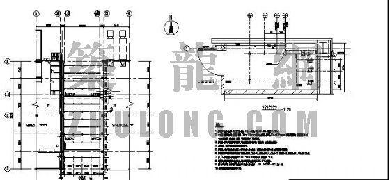 某罩棚干式喷淋平面图、系统图