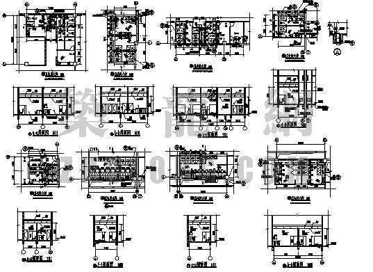 江苏某工程卫生间内布置图及安装施工图