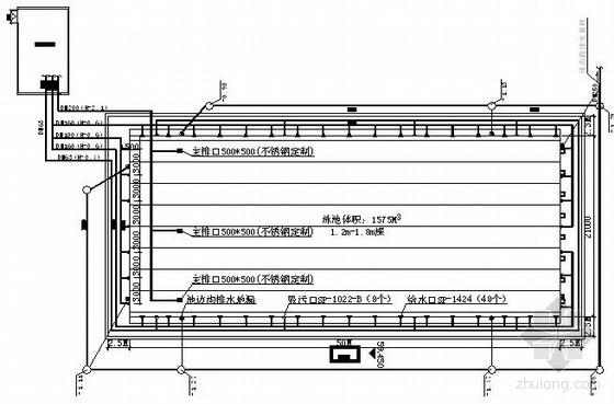 某泳池传统方案设计图纸