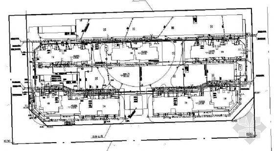 某小区室外给排水管道平面图
