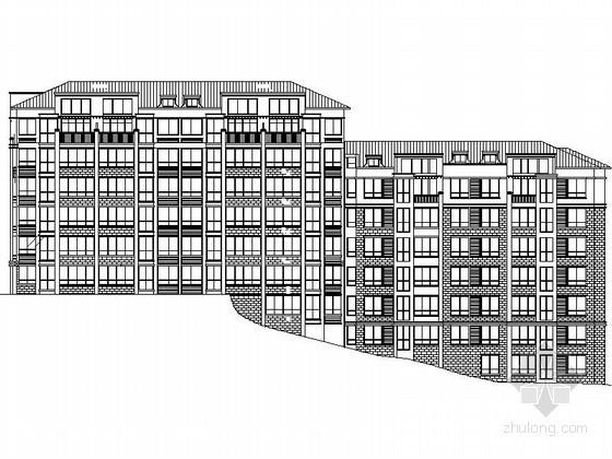 [南京]某大学六层教师住宅楼建筑扩初图