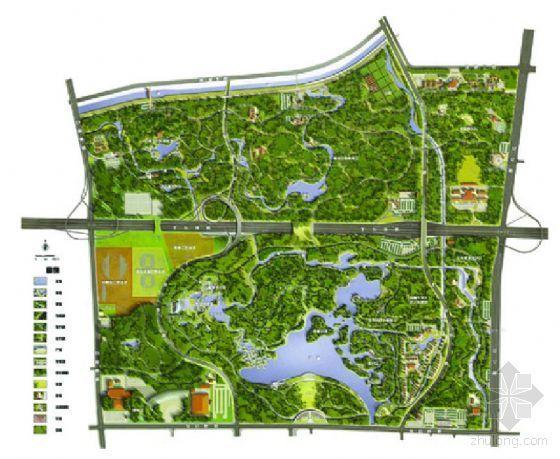 北京森林公园及中心区景观设计
