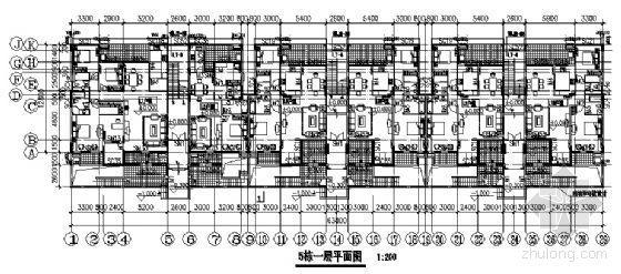 东部花园洋房5栋住宅楼建筑施工图-2
