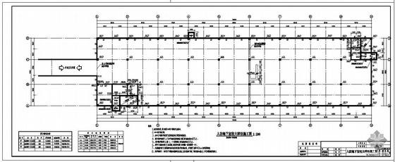 江西某小区人防地下室工程结构图