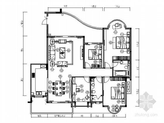 [广东]某四室两厅时尚样板房装修图