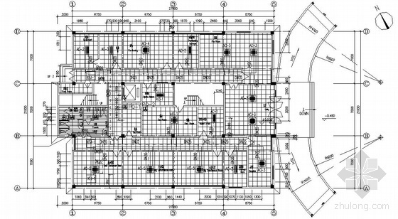 某公司办公楼空调通风平面图