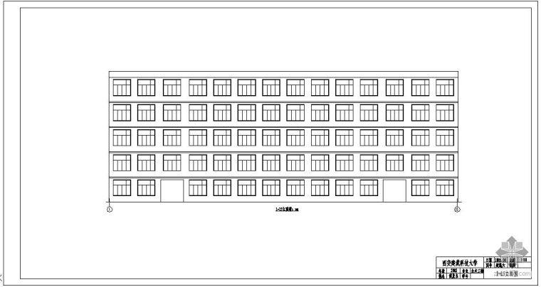 [学士]某五层教学楼毕业设计图