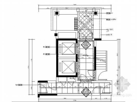 [长沙]新城花园小区现代高档电梯厅室内装修图(含效果)