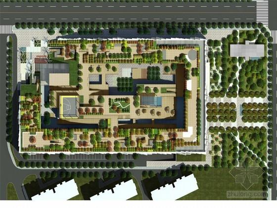 [杭州]别样方案景观规划设计小区食槽牛场设计图图片