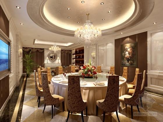 歐式餐廳包房3D模型下載
