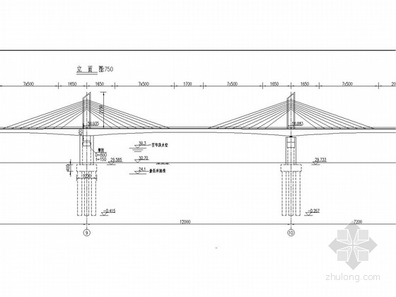 主跨120m三塔矮塔斜拉桥全桥施工图(101张)